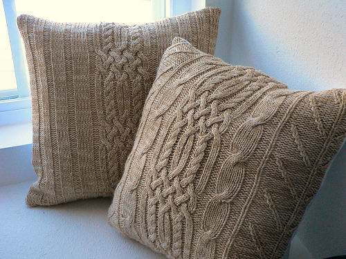 Pillows Made from an Old Sweater