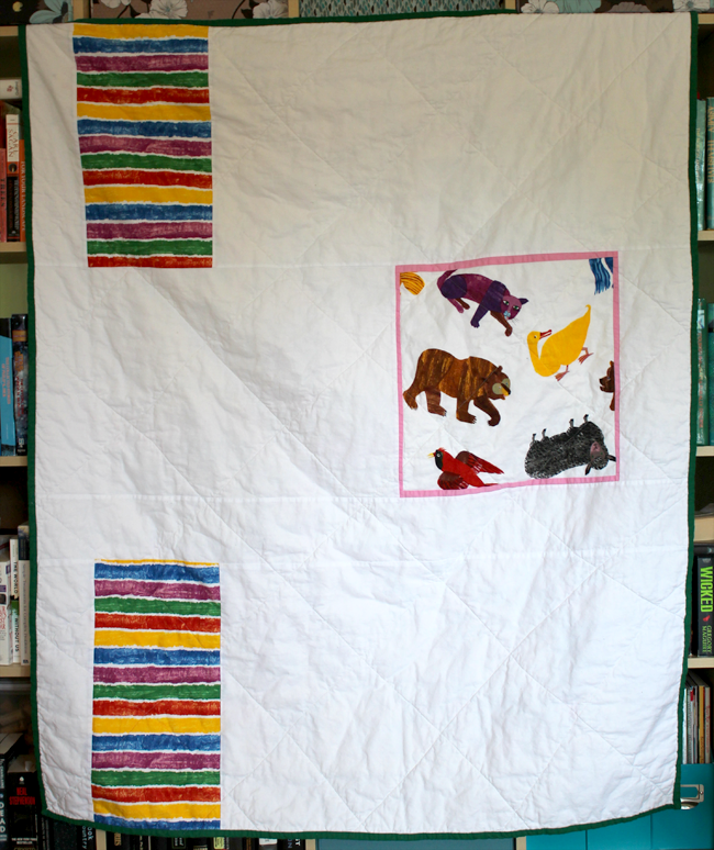 Brown Bear Quilt Back
